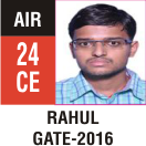 Peeyush Kr. Shrivastav, GATE 2016, RANK 24A